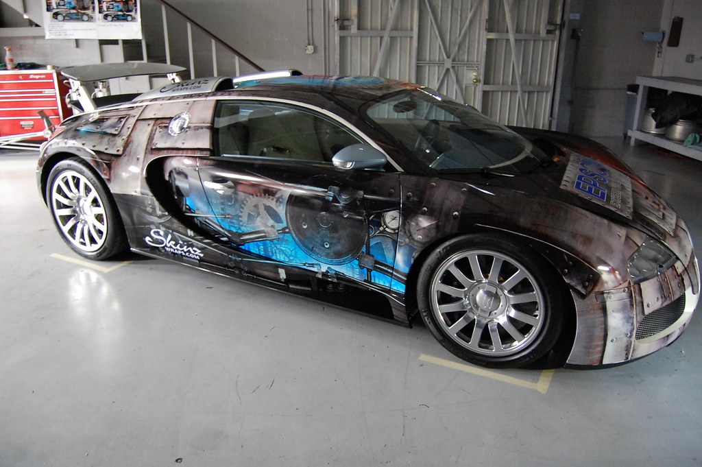 Custom Vehicle Wrap On A Bugatti Veyron In Las Vegas Nv W
