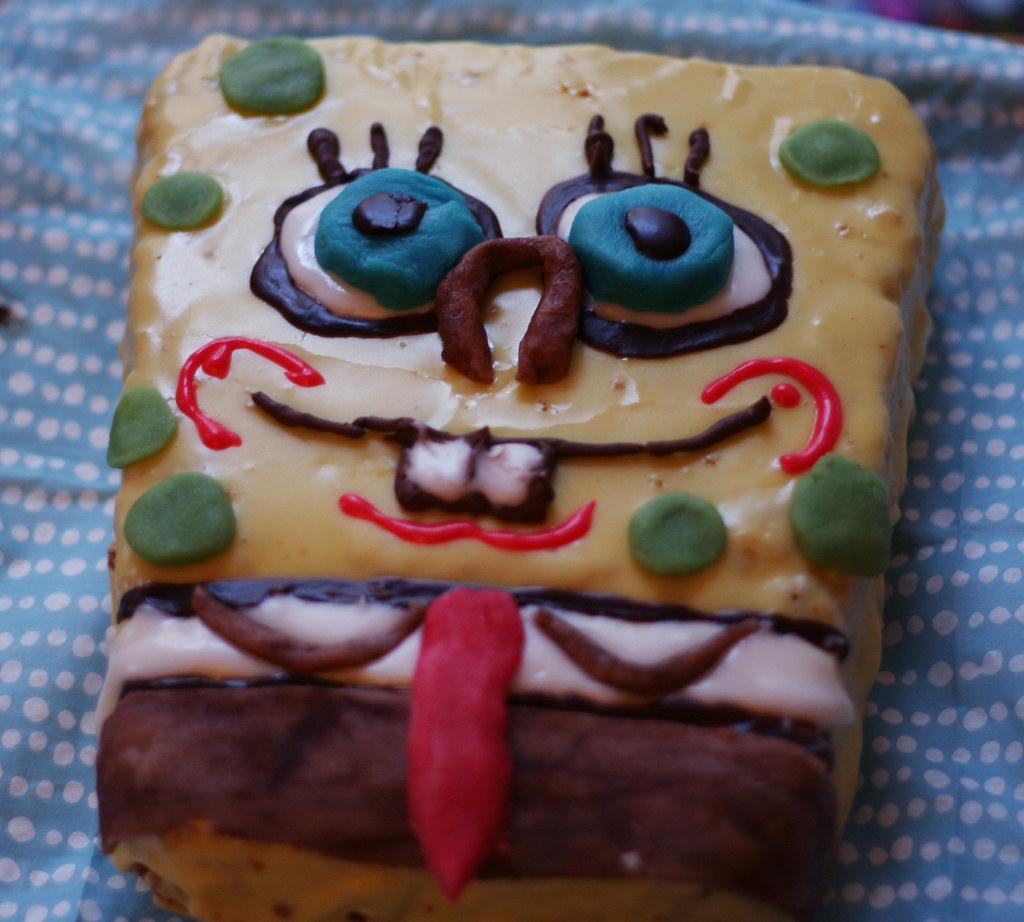Spongebob Schwammkopf Kuchen Mit Frucade Rezept Sassi Flickr