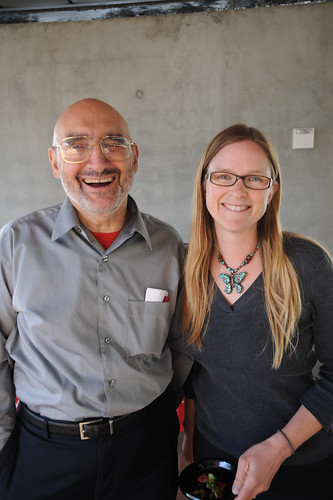 Former Dean of the Library, Paul Adalian, and librarian, Kristen LaBonte at the Broome Library Student Book Collection Contest Award Ceremony | by California State University Channel Islands