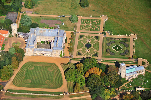 Castle ashby house photographed from helicopter for Ashby house