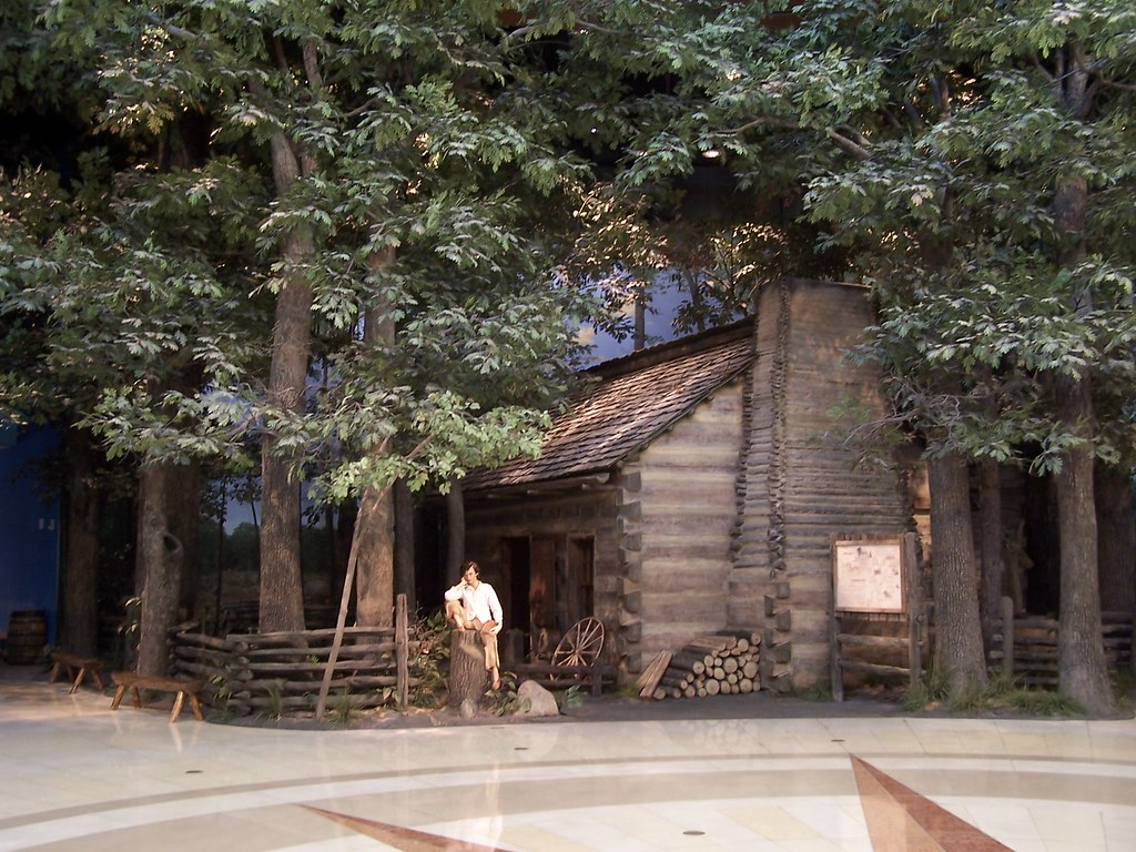 Lincoln Log House Diorama Inside The Abraham Lincoln