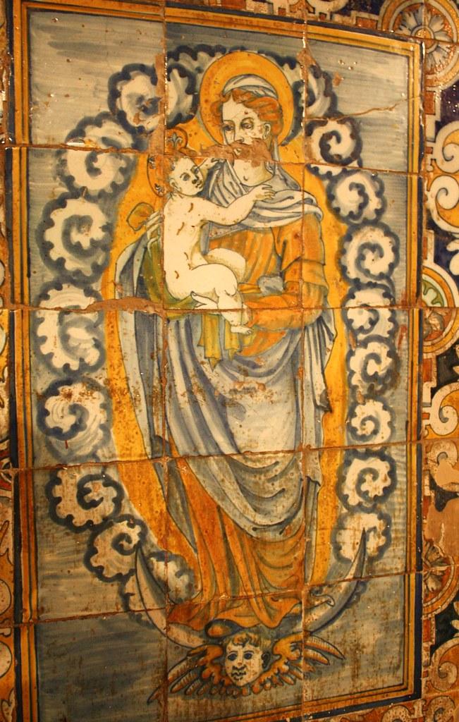 La virgen y el ni o ii siglo xvi z calo de azulejos - Zocalos de azulejos ...