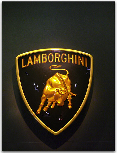lamborghini the lamborghini charging bull logo stands