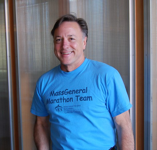 Mark Meche in MassGeneral Marathon Team T-Shirt | by Meche Marathon