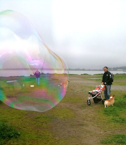 Look, Eva! Giant bubble! | by Ivy@PaperElixir