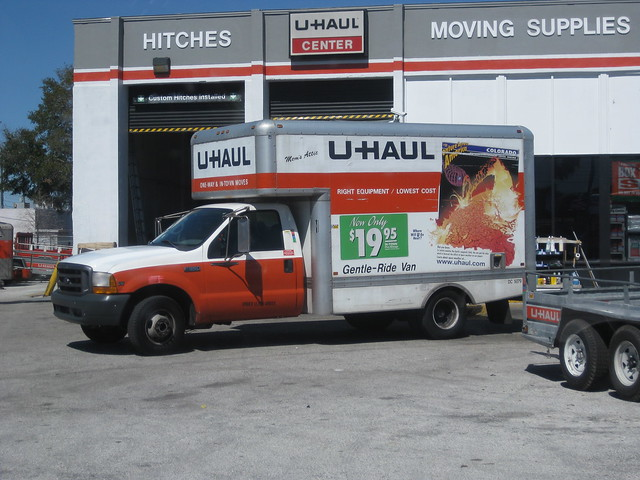 Great uhaul truck rental image here, very nice angles