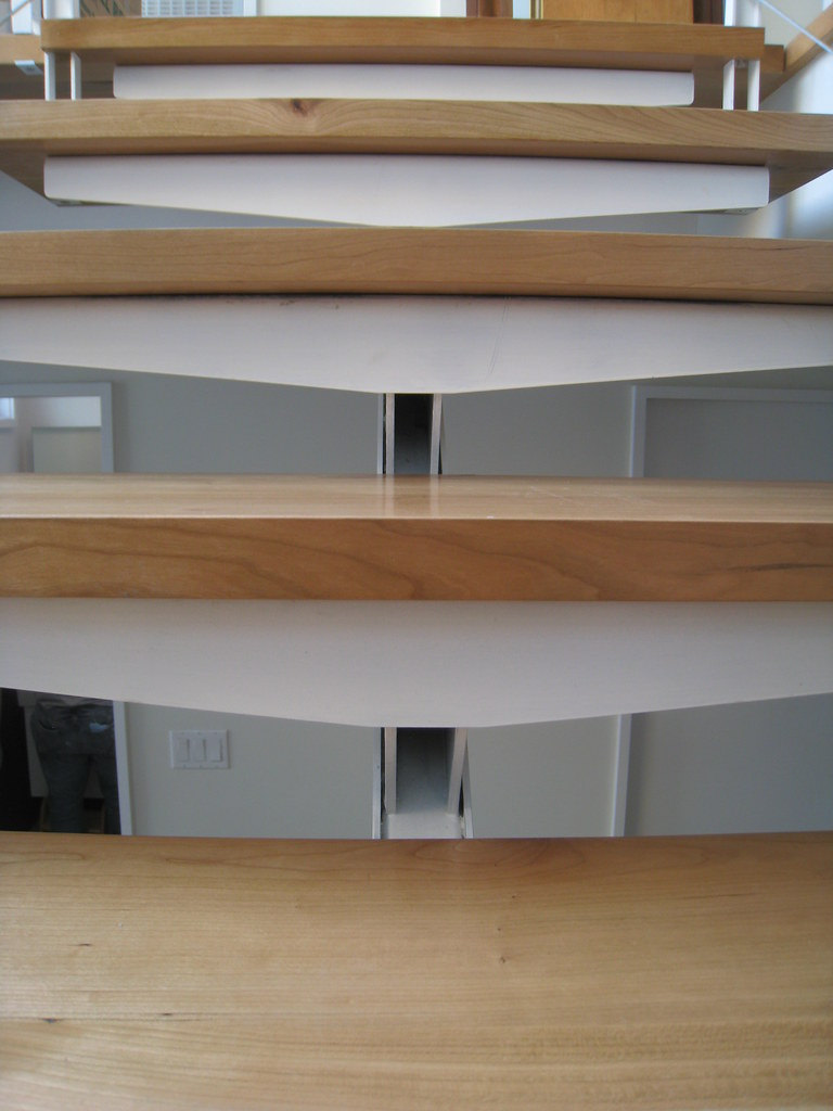 Bent Plate Risers Custom Steel Stair With Cherry Wood Trea Flickr