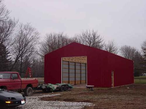 Diy Metal Barns : Diy pole barn a second view of the metal siding