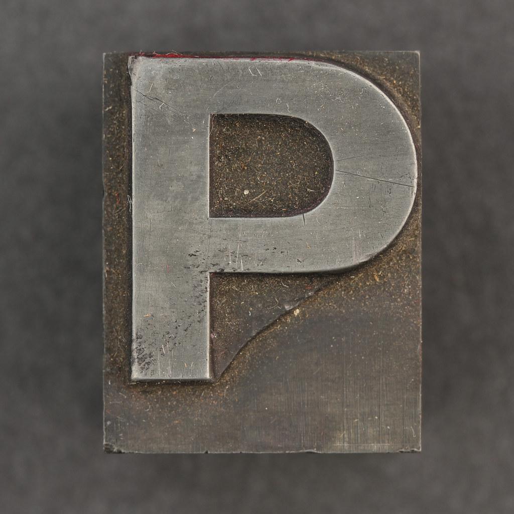 Magazine word background stock photography image 12291482 - Caslon Metal Type Letter P Leo Reynolds Flickr