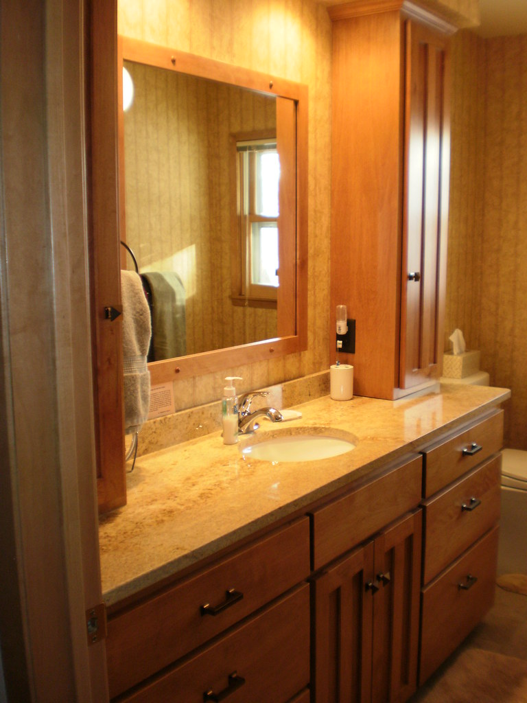 Birch Bathroom Vanity And Tower Cabinets Birch Cabinets S Flickr