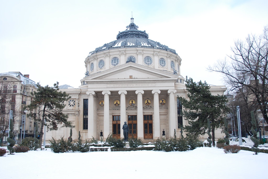 a study of the romanian athenaeum 2018-10-2 constantin brâncuși (romanian: [konstanˈtin brɨŋˈkuʃʲ] ( listen) february 19, 1876 – march 16, 1957) was a romanian sculptor, painter and photographer who made his career in france considered a pioneer of modernism, one of the most influential sculptors of the 20th-century.