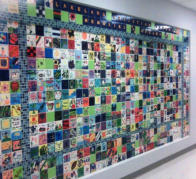 pinterest photo collage wall ideas - Tile Wall for new LCS Elementary Middle School Building fu