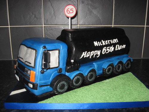 Lorry Birthday Cake