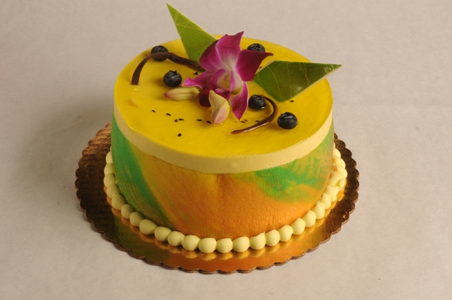 Passion Fruit Glaze Cake