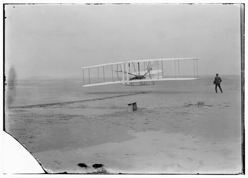 [First flight, 120 feet in 12 seconds, 10:35 a.m.; Kitty Hawk, North Carolina] (LOC) | by The Library of Congress