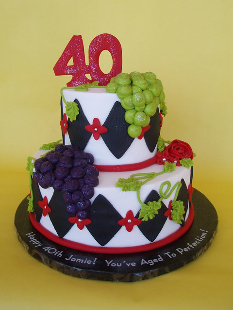 Wine Themed 40th Birthday Cake Flickr Photo Sharing