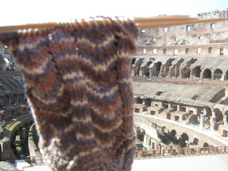 Sock at the Colosseum! | by Cathi O'Neill