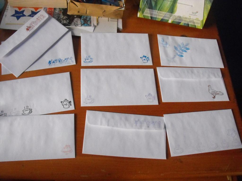 decoracion de sobres para boletines decora los sobres de