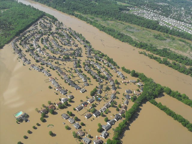 Nashville TN  2010 Flood  Flooded Housing Development