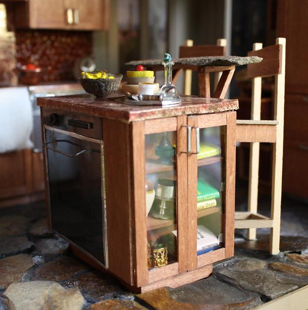 Kitchen Island Raised Bar: Kitchen Island W/ Built-in Oven And Raised Breakfast Bar