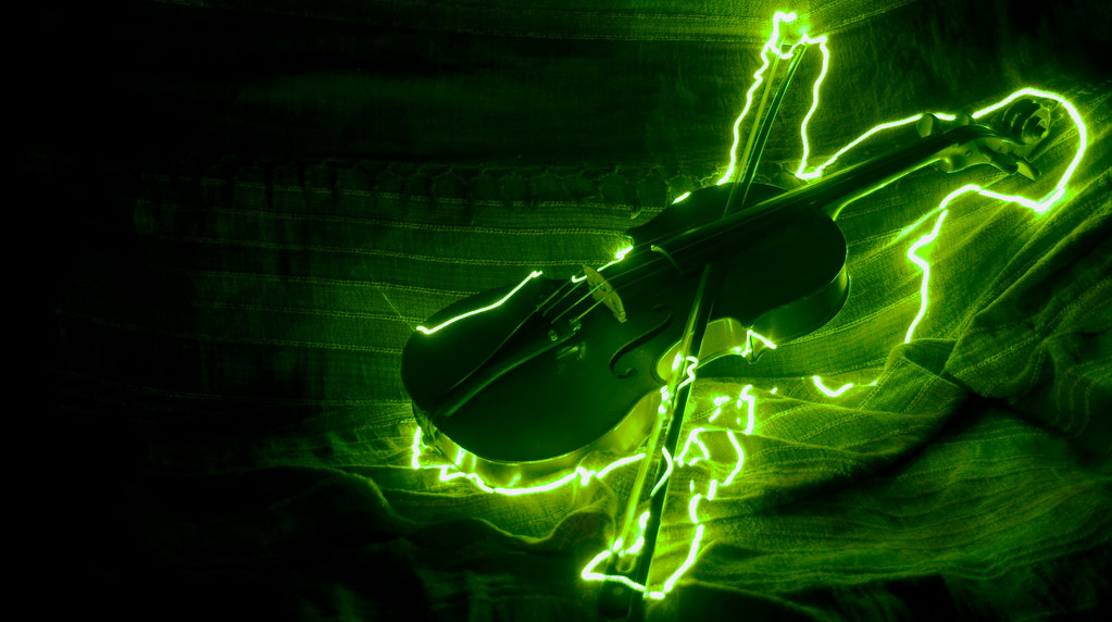 Electric Violin More Light Painting In This Case The