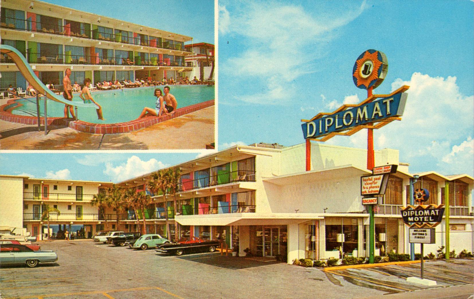 Diplomat Motel - Daytona Beach, Florida U.S.A. - 1960's