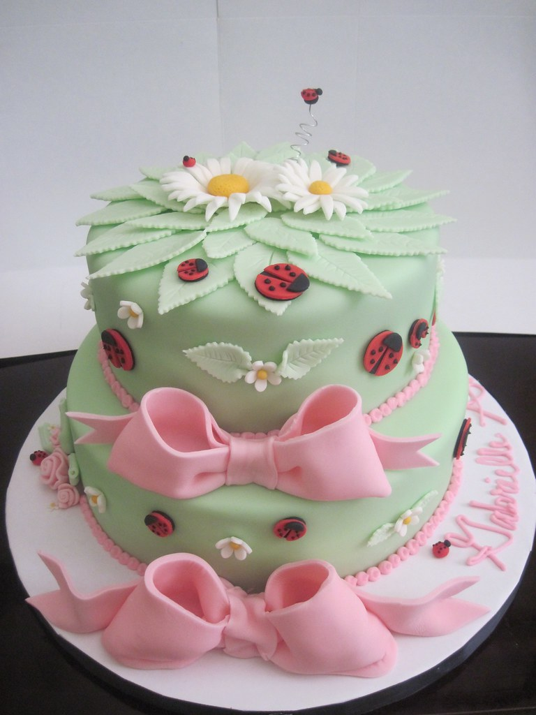 Ladybug Baby Shower Cake This Cake Had A Few Firsts For Me Flickr