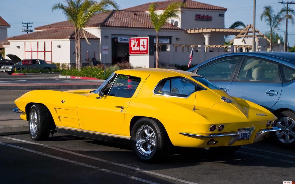 1963 corvette split window coupe yellow rvl donut for 1963 corvette split window kit car