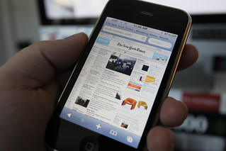 New York Times on iPhone 3GS | by Robert Scoble
