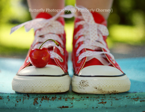 Cherry Red Shoes {Happy Bench Monday} | by Kimberly Chorney