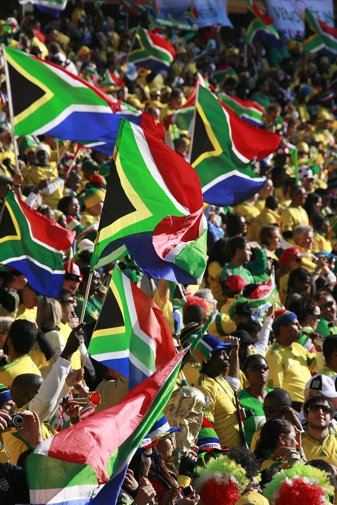 World Cup South Africa Fans  Waving The South Africa Flag I  Flickr-8008
