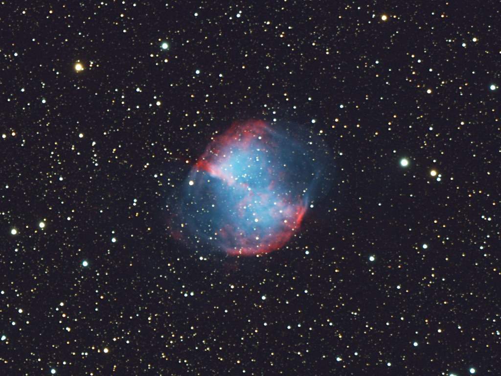 M27, The Dumbbell Nebula | The Dumbbell Nebula (also known ...