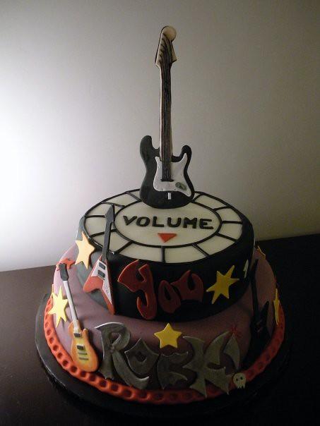 Rock Star Birthday Cake Ana Flickr
