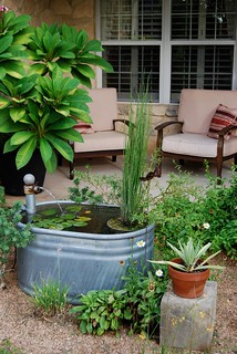 Galvanized Stock Tank Water Feature Complete With
