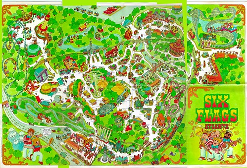 Old Six Flags over Georgia Map | by drewprops