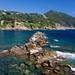 Rock formation in Sestri Levante's Baia del Silenzio, the Bay of Silence