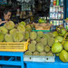 Durians and other local fruits on sale at Pulau Ubin