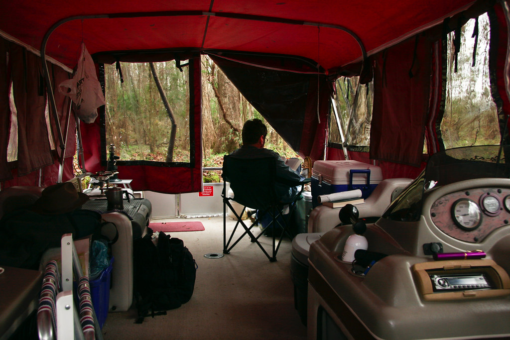 ... Inside the pontoon boat  c&er  | by Aaron ... : tents for pontoon boats - memphite.com
