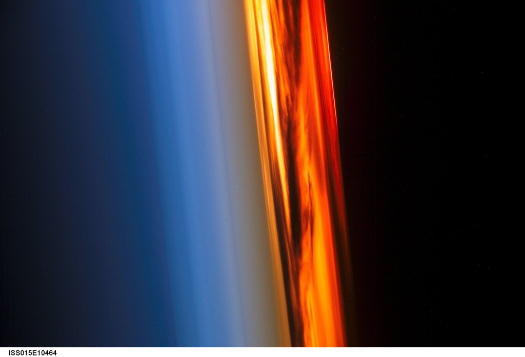 Sideways Sunset (NASA, International Space Station Science ...