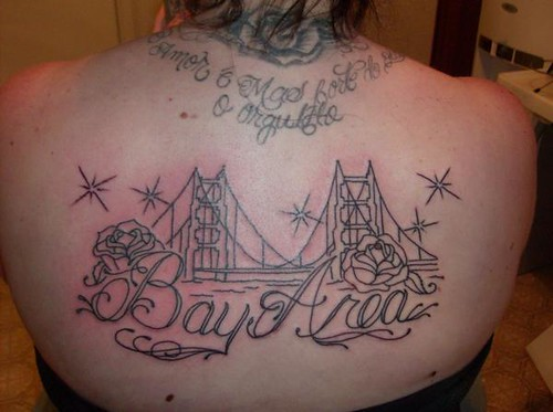 bay area bridge rose tattoo by friscasso outline