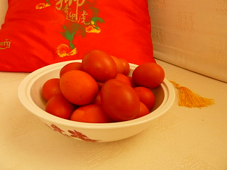 Red-dyed eggs for CNY............ btw,  to all the Chinese out there, 新年快乐 (^o~) | by JoyceSeah_Singapore@flickr