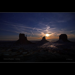 Moonlight in Monument Valley - The Mittens - Arizona | by Dominique Palombieri
