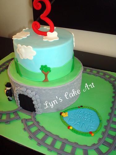 Cake Art N R Colony : Train tunnel and tracks Lyn Flickr