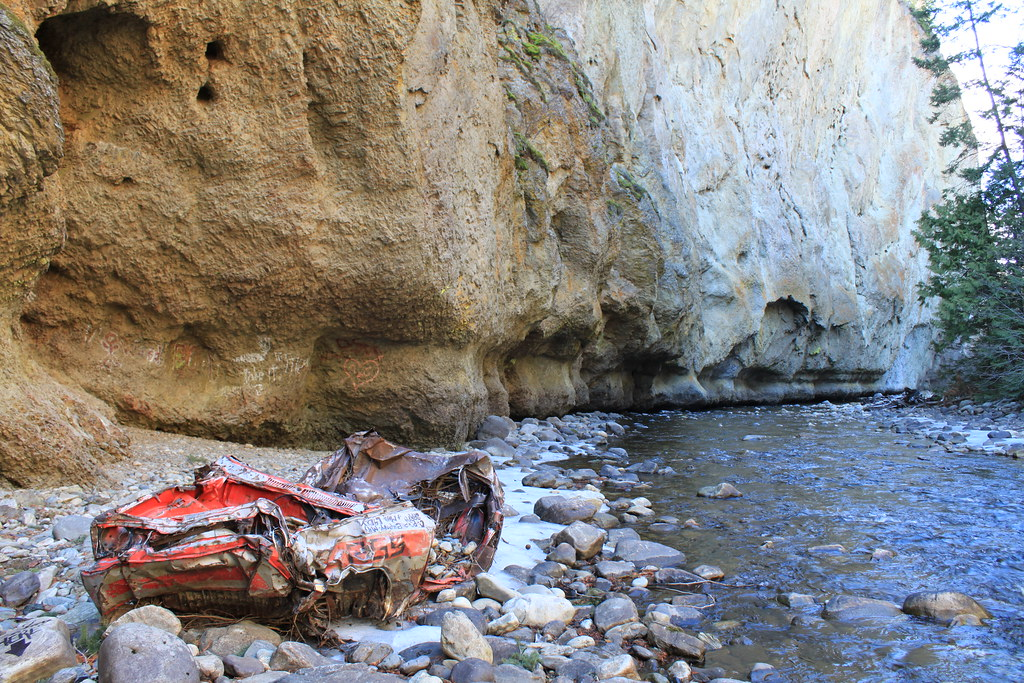 Abandoned Car Along Mission Creek In Gallagher S Canyon In Flickr