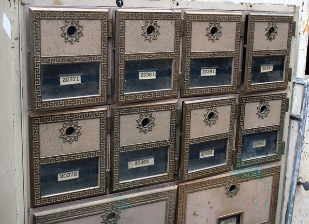 vintage apartment mailboxes | Krista | Flickr