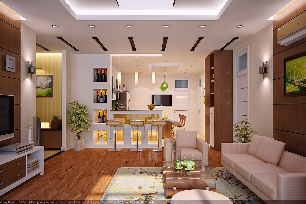 living-room view 3 | Designed and render by Vu Dang Khoi ...