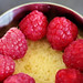 raspberries on sponge cake 8133 R