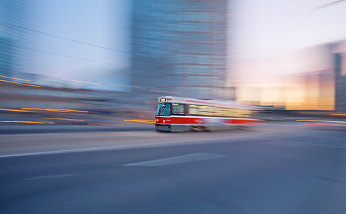 Panning Streetcar at Dawn | by Mute*