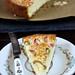 rhubarb cake one slice with cake