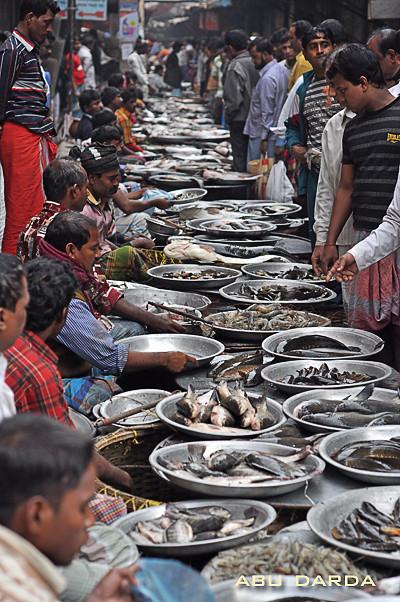 Typical Fish Market In Bangladesh Taken At Buriganga